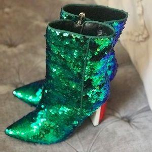 Shoes - Sequins boots